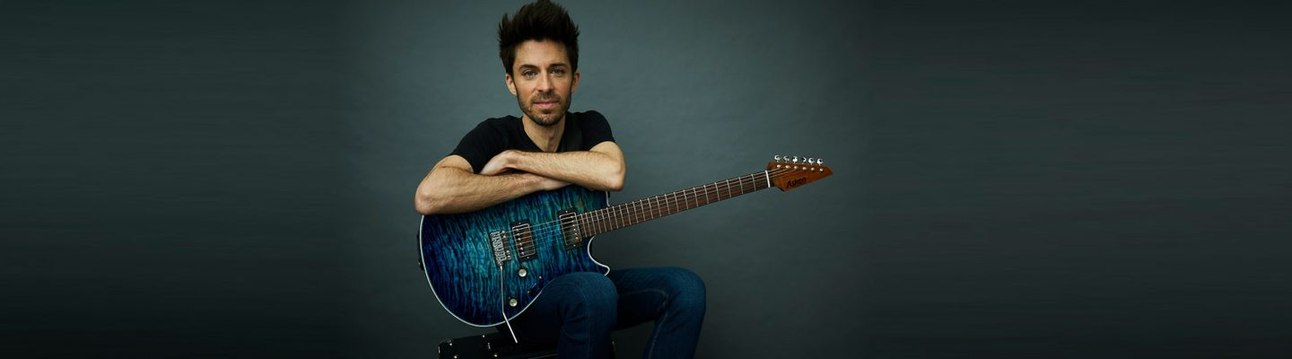 Andrew Synowiec Session Guitarist Blue Guitar